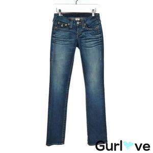 True Religion Straight Leg Jeans Size 25
